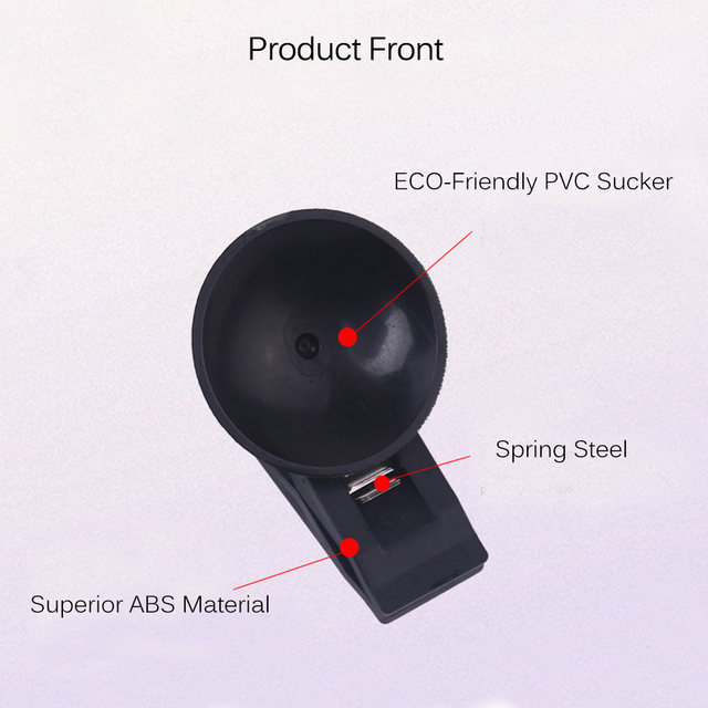 2pcs Car Interior Window Mount Black Suction Cap Clip Plastic Sucker Removable Holder For Sunshade Curtain Towel Ticket