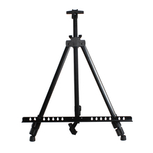 Promo offer Collapsible iron sketching easel metal tripode madera sketch painting easel folding telescoping advertising display mini easel