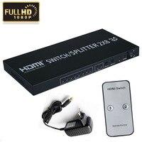 Full HD 1080P 3D 4K 2x8 HDMIv1 4 Switch 2 In 8 Output HDMI Splitter Matrix