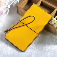 Luxury Design Patchwork Clutch Bag Long Wallet Three Layer Multi Card ID Holders Fruit Color Fashion Youth Woman Zipper Wallet