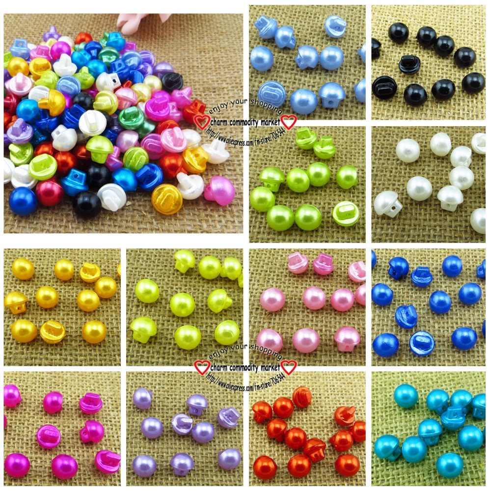 100PCS 10MM 12colors RESIN Mushroom buttons coat boots sewing clothes accessories R-081