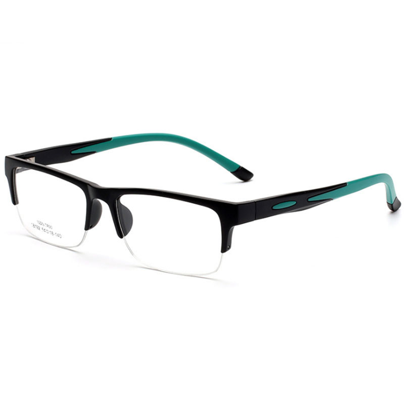 Män Kvinnor Glasögon Ramar Prescription Eyewear TR90 Spectacle Frame Silikon Optisk Märke Eye Glasses Frame Half Rimless