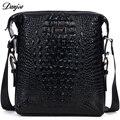 DANJUE Genuine Leather Crossbody Bag Men Trendy Men Bag High Quality Messenger Bag Soft Leather Business Bag Crocodile Style