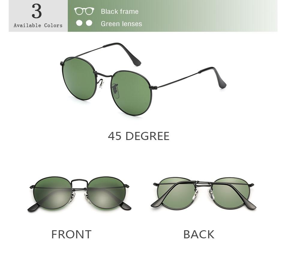 HTB1ZbDncN6I8KJjSszfq6yZVXXaL - Luxury Round Sunglasses Women Brand Designer 2018 Retro Sunglass Driving Sun Glasses For Women Men Female Sunglass Mirror 3447