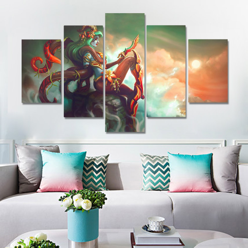 Unframed HD Canvas Prints Animation Poster Female Clown Doing Stones Prints Wall Pictures For Living Room Wall Art Decoration