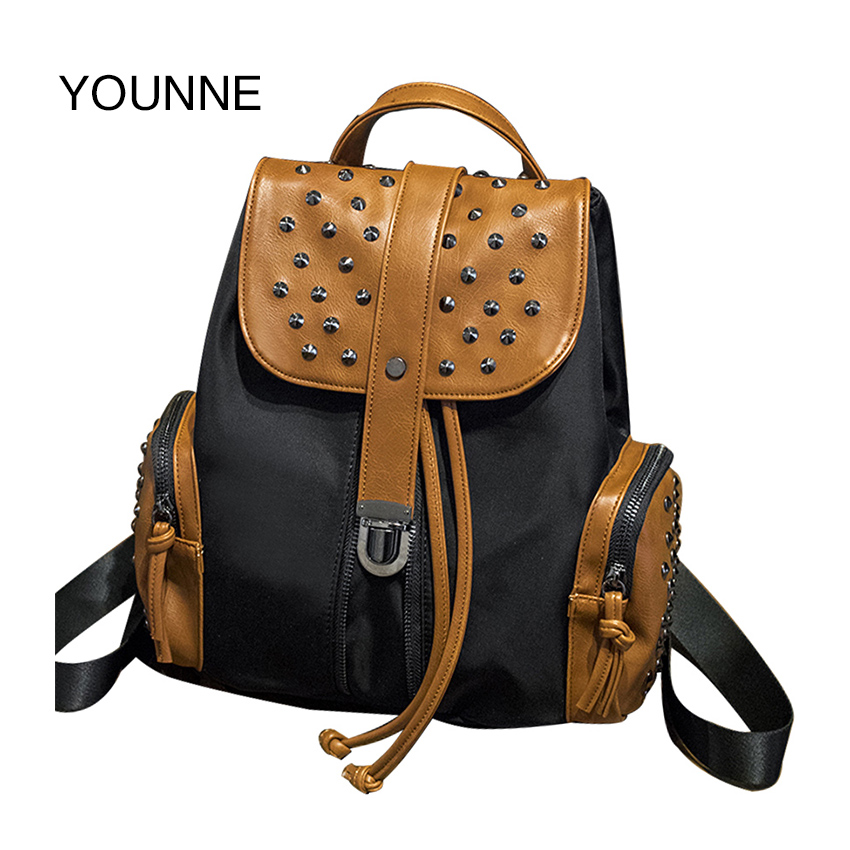 YOUNNE Women Backpack Waterproof Nylon Student School Bags Girl Backpacks Female Casual Travel Bag Ladies mochila feminina forudesigns cute 3d dachshund dog casual shoulder backpack for women men student school bags travel backpacks laptop bag mochila