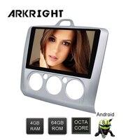 ARKRIGHT 9 ''2 din Android 8,1 Автомобильный Радио Видео/DVD плеер 4 + 64 Гб стерео для Ford Focus 2005 2012 gps Navis Автомобильный мультимедийный пальер