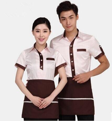 Short Sleeve Shirt Uniform For Waiter Uniform Restaurant Clothing Restaurant Work Clothes Hotel Uniform