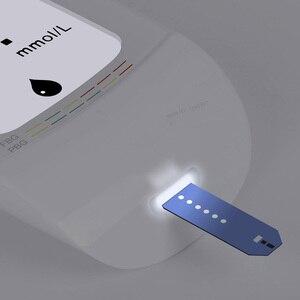 Image 3 - جهاز قياس السكر بالدم من Youpin IHealth مع شرائط اختبار Lancets جهاز قياس السكر بالدم الذكي LCD مع إضاءة خلفية