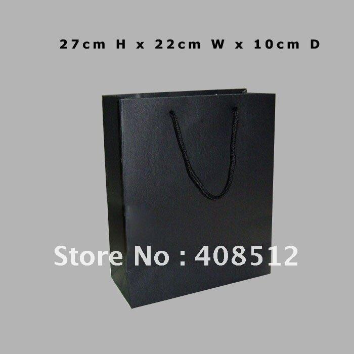 500 шт 27x23x10 см чёрного цвета, картон бумажный упаковочный пакет