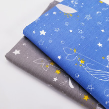 Cartoon Animal/Stripe Printing 100% Cotton Twill Fabric For Patchwork Handmade DIY Quilting Material Child