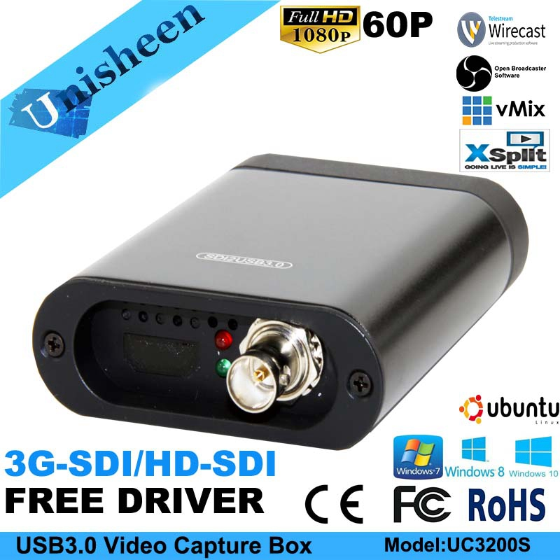 USB3.0 60FPS SDI VIDÉO CAPTURE Dongle Jeu Streaming Live Stream Diffusion 1080 p OBS/vMix/Wirecast/Xsplit