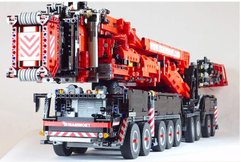 2019 nouveau MOC puissance Mobile grue bâtiment LTM11200 RC technique moteur legoing Kits blocs briques anniversaire bricolage jouet cadeau