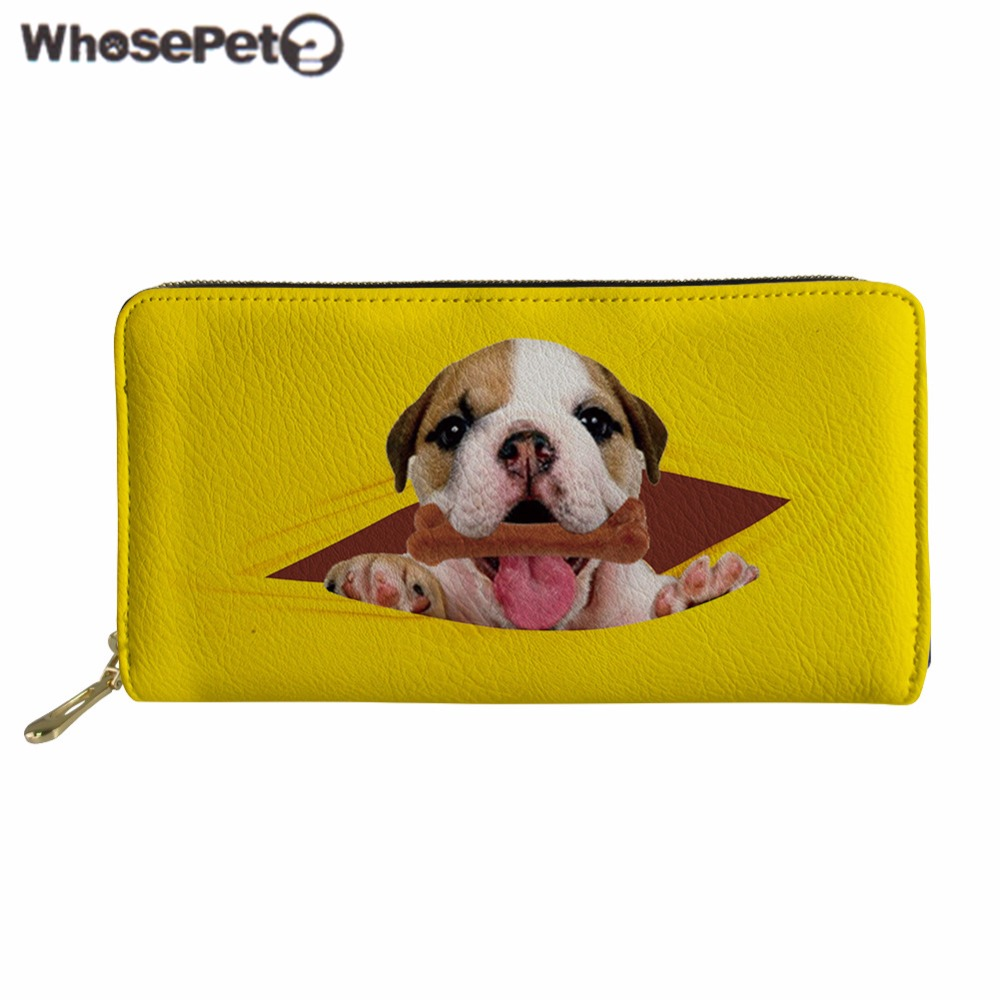 Womens Fashion Coin Purse Running Wolf Canvas Makeup Bag With Zipper For Women