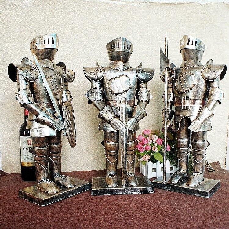1703 Metal Iron Medieval Knight European Warrior With