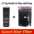 TOPPIK Hair Building 27.5g botella agregar relleno bolsa 50g espesante pelo más completa de la pérdida del cabello, Marrón oscuro, negro, 9 colores 0.97 oz.