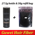 TOPPIK Hair Building Fibers 27.5g bottle add refill bag 50g hair thickener fuller hair loss, Dark Brown, black,9 colors 0.97 oz.