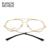 De Acero Inoxidable de la manera Unisex Gafas UV400 Marco Óptico Marcos de las lentes Gafas Claras Para Los Hombres de Las Mujeres Gafas Con Caja de Oro