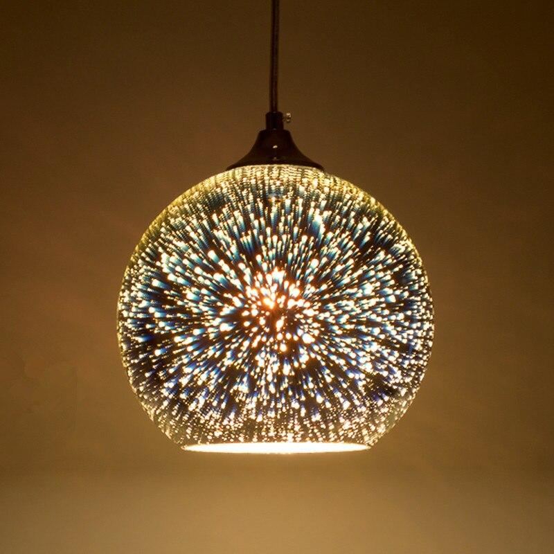 Novelty Glass Ball Pendant Lights Modern Suspended Luminaire Christmas Ball Design Lamp Colorful Pendant Lighting novelty glass magic plasma ball light 3