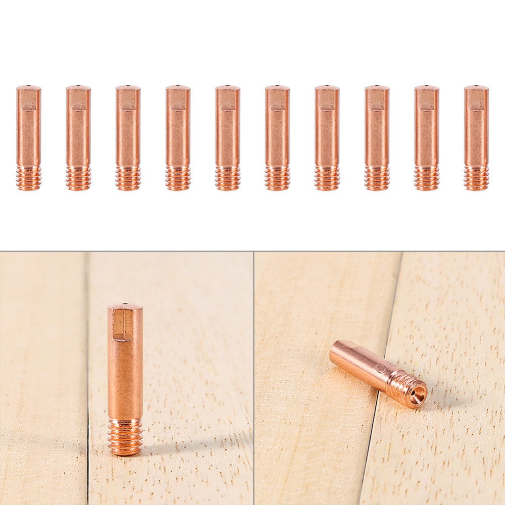 10pcs/set Brand New MB 15AK Mig Mag Welding Weld Torch Contact Tips Holder Gas Nozzle Gold 0.8*25mm