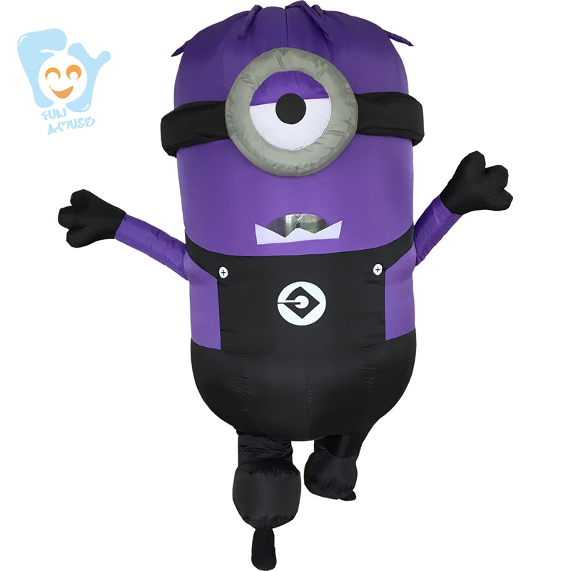 Minion Costume Inflatable Halloween Costumes For Women Cosplay Adult Fancy Dress Despicible Me Mascot