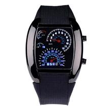 Men RPM Turbo Sport Watch High quality Digital LED Backlight Military Wrist Watch Wristwatch Sports Meter Dial Watches led digital touch screen red backlight wrist watch red 1 x cr2016