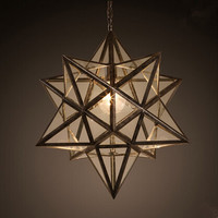 52CM Loft Style Pendant Lights American County Tiffany Droplight Creative Hanglamp Fixtures For Bar Cafe Foyer