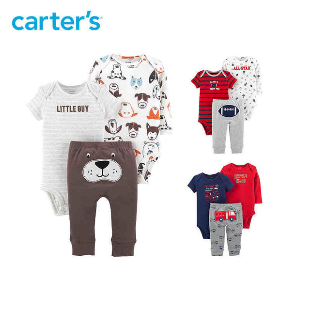 Carters 3-Piece Little Character Set Cute bodysuits long pant baby girl  autumn winter clothes newborn baby boy clothing 126H494 835a2853d