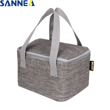 SANNE 5L Mini picnic portable Oxford polyester aluminum foil insulation lunch bag insulation package thermal student lunch bag цена