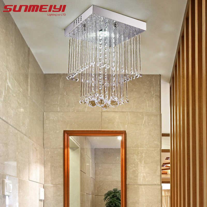 Современный хрустальный светодиодный потолочный светильник для комнатной лампы lamparas de techo поверхностный монтаж потолочный светильник для спальни столовой