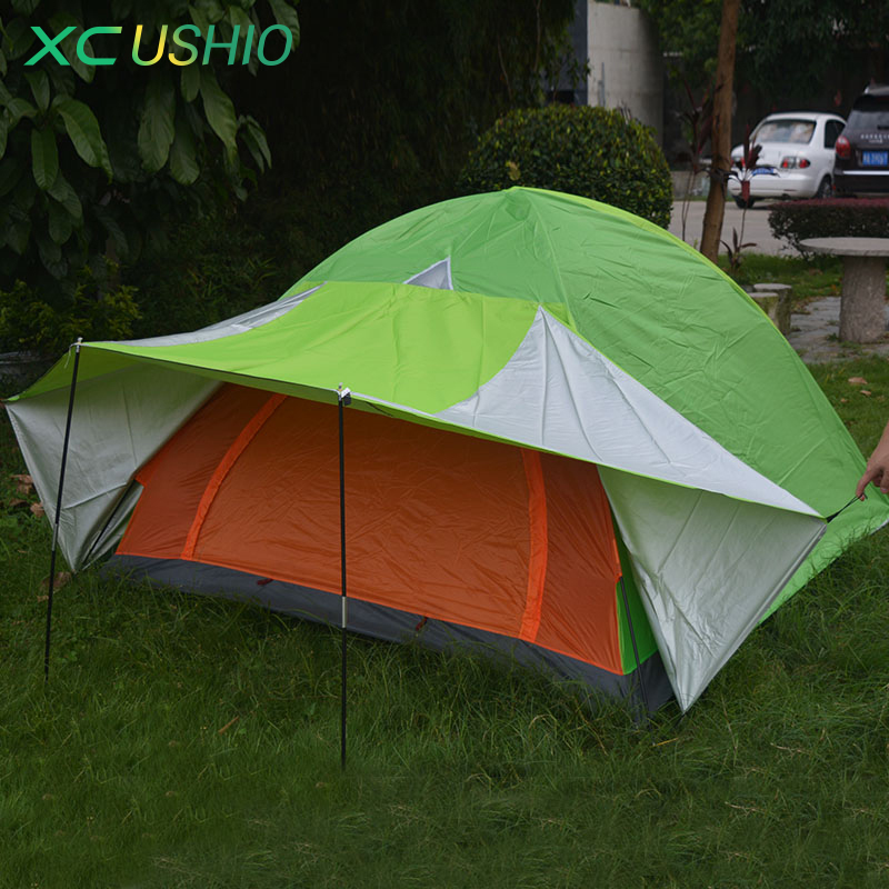 200x200x130cm Full Coverage Double Layer Waterproof Outdoor Camping Tent 3 4 Person Rainproof Tent for Hunting