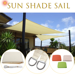 3x3m Square Sun Shade Sail Canopy Patio Garden Awning UV Block Top Shelter Beige Outdoor Waterproof Car Cover Garden