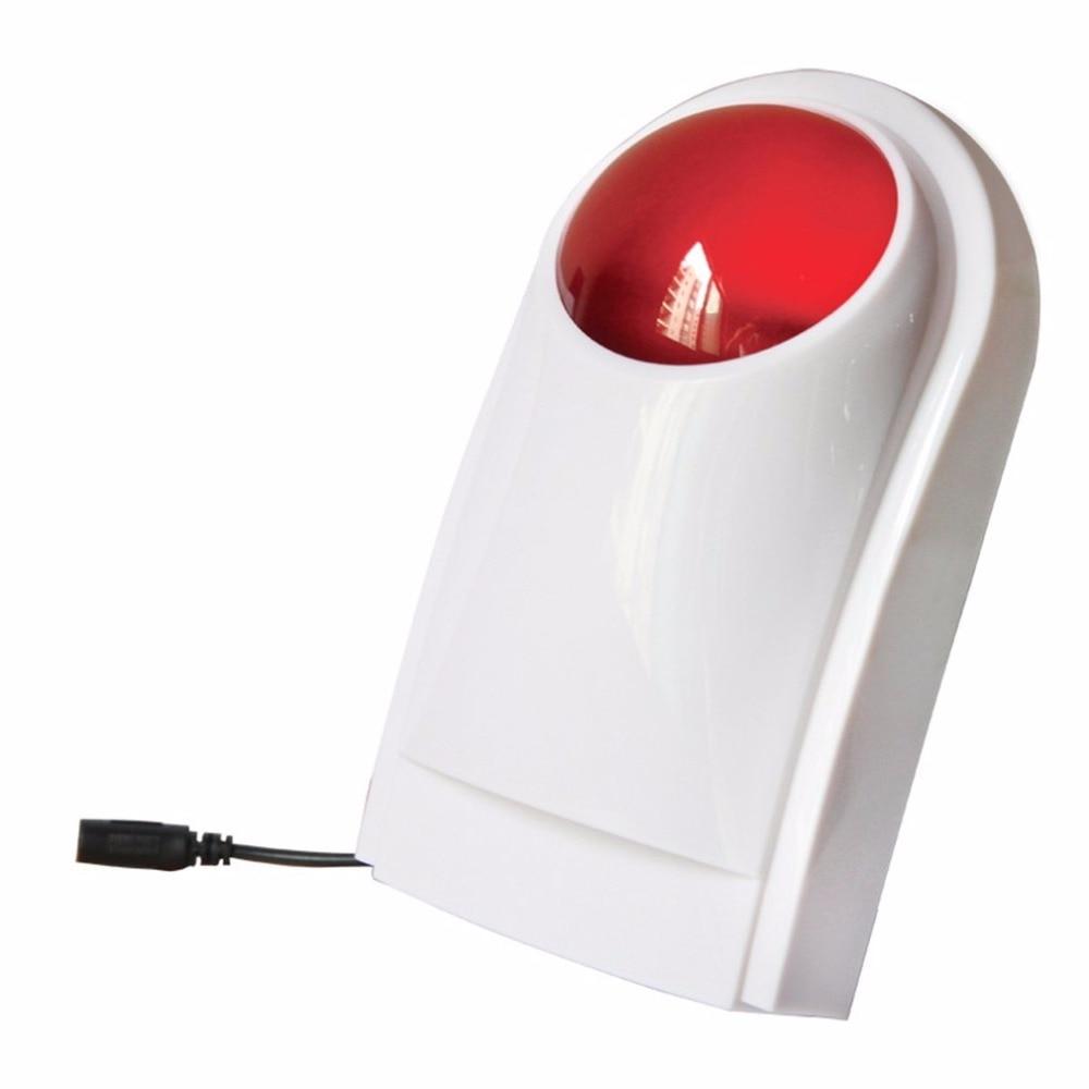 Flash inalámbrico sirena del estroboscópico al aire libre impermeable de la cc 12 V 500 mAh para Wireless Home seguridad sistema de alarma incorporado AAA Batterries