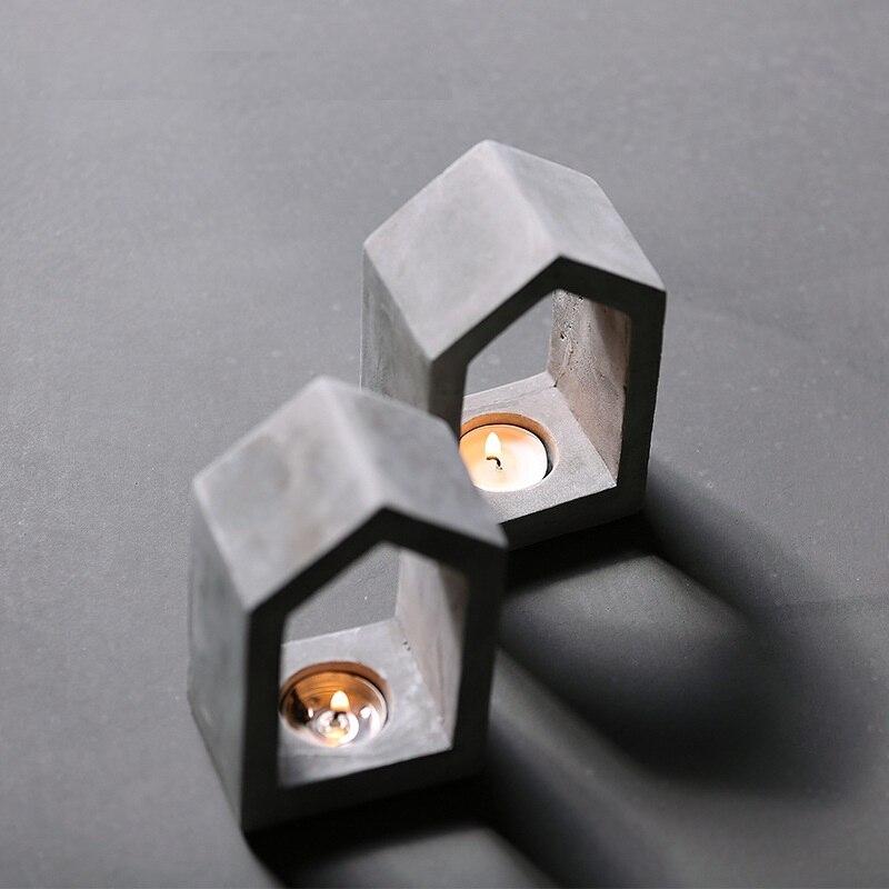 Ciment de construction de maison décoration maison décoration Ameublement chandelier moule en silicone