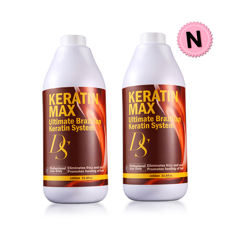 Free Shipping Newest DS Max 1000ml 5% Formalin Brazilian Keratin Treatment Repair Damaged Hair Make Shiny and Smoothing Hair