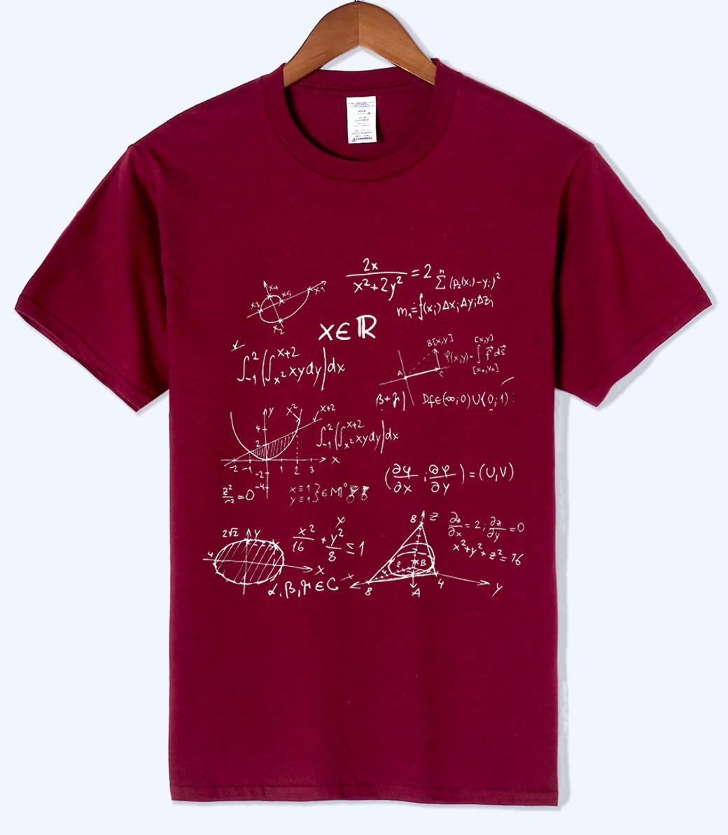 T-shirt 2019 summer Mathematical Formula men's T-shirts The Big Bang Theory t shirt men sportwear brand-clothing top tees cotton