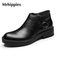 MRHIPPIES Spring Black Men Boots Genuine Patent Leather Italy Designer Male Ankle Boots Men Shoes For