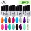 Saviland 12 unids colores esmalte de uñas profesional kit de lámpara uv hermosa laca uv/led gel nail gel polaco vanish gel