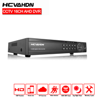 HCVAHDN Home Surveillance 16ch 1080P security DVR HDMI 16 channel 2MP DVR NVR For security IP camera onvif CCTV DVR Recorder