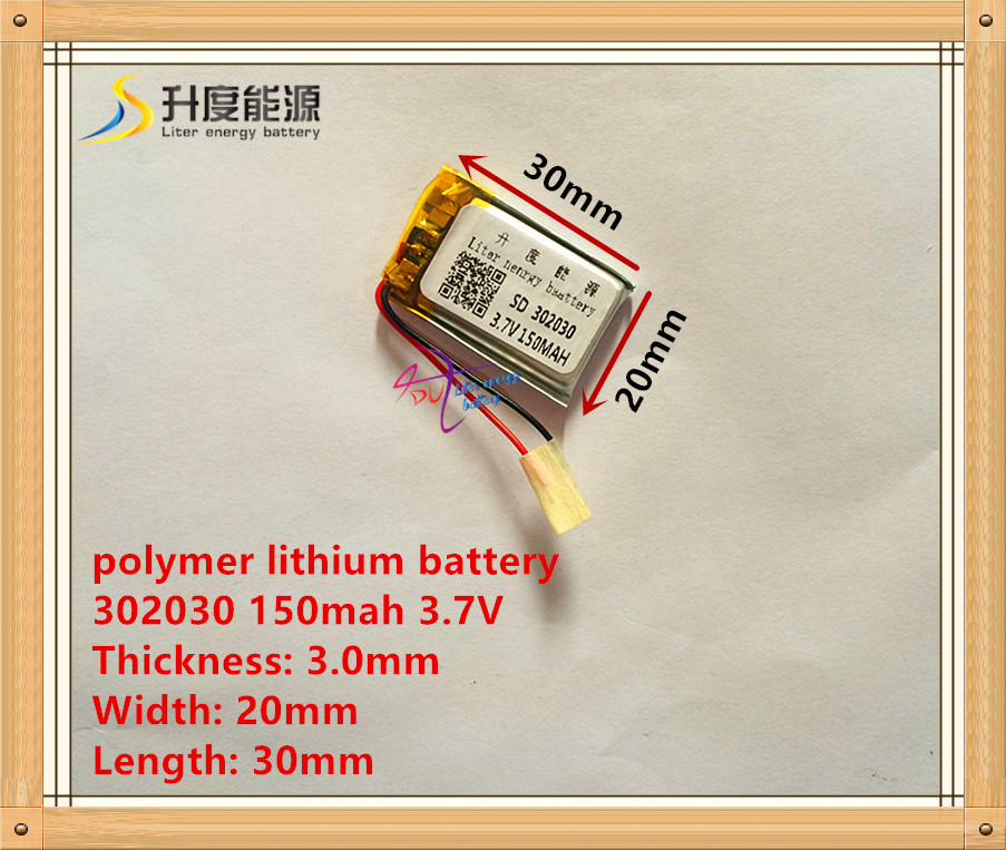 3,7 v lithium-batterie 302030 032030 150 mah mp3 mp4 gps bluetooth zelle batterie spielzeug