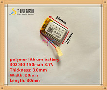 3.7V lithium battery 302030 032030 150mah MP3 MP4 GPS Bluetooth cell battery toys