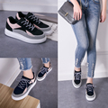2016 British Style Women Creepers Flat Platform Shoes Lace Up Footwear Woman Casual Harajuku Shoes Tenis Feminino Espadrilles