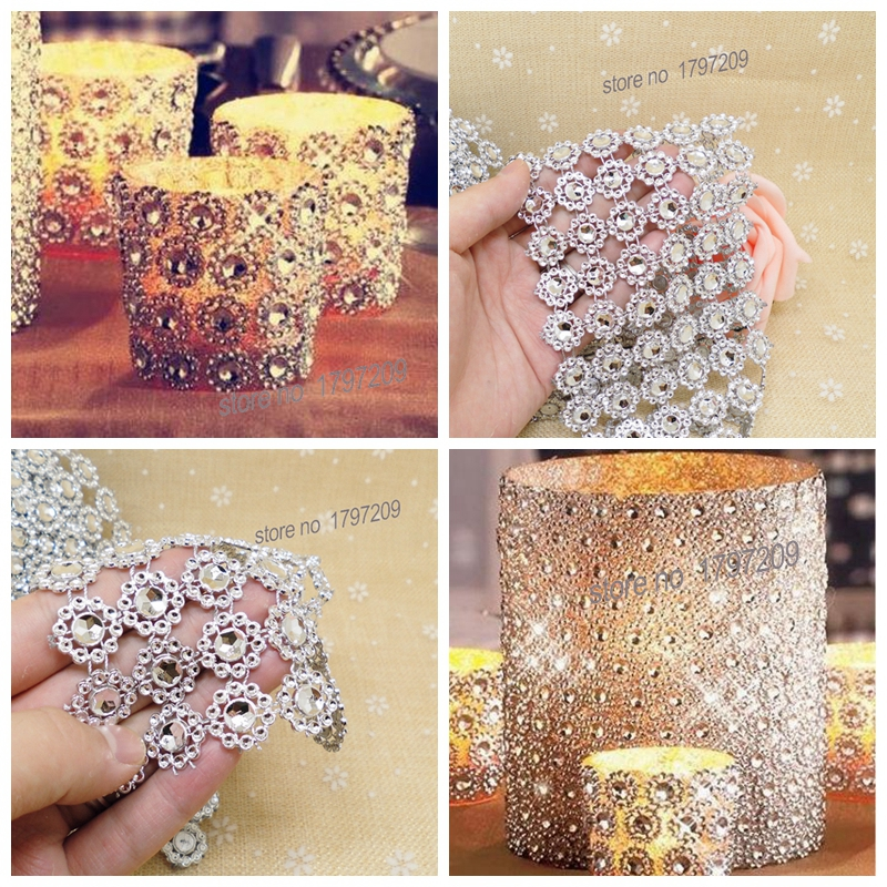 1 yards silver rhinestone daisy flower diamond mesh wedding deocration wedding centerpieces vintage decoration mariage - Aliexpress Decoration Mariage