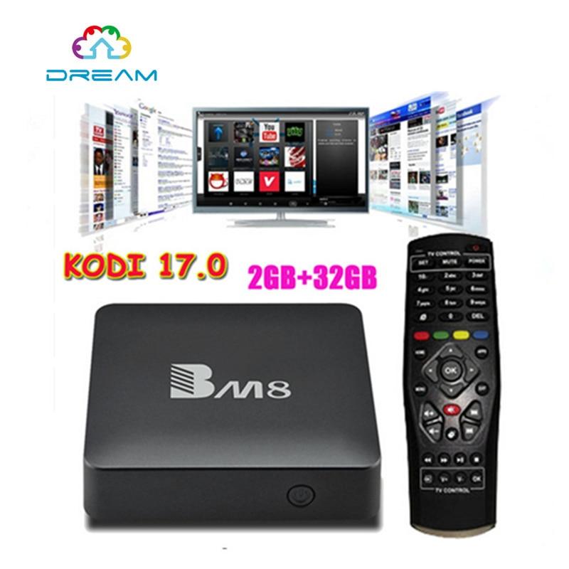 ФОТО Smart TV Box  Android 6.0 BM8 4K 2G 32G Amlogic S905X Quad Core H.265 Media Player 2.4G&5G Wifi BT4.0 Mini PC VS T95X TVbox IPTV