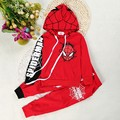 Retail kids Tracksuit costume Spiderman Children Clothing sets boys Cartoon hooded coat+Harem pants casual baby suits Novelty
