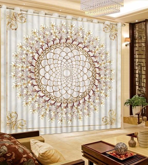 Elegant Printing Wohnzimmer Vorhänge Europäischen Muster Schlafzimmer Vorhänge  Wohnkultur Orchidee Vorhänge Fenster Blackout Vorhang