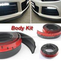 For Volkswagen POLO VENTO JETTA GOLF BEETLE TIGUAN Touareg Passat Volks Bumper Lip Deflector Front Spoiler Skirt Body Kit Strip