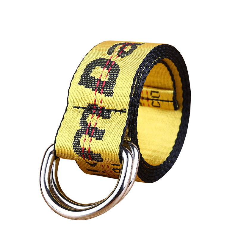 New Street Style Canvas Belt Unisex Industrial Letters Fashion Women Belt Canvas Belt Ladies Men Embroidery Waist Strap X49
