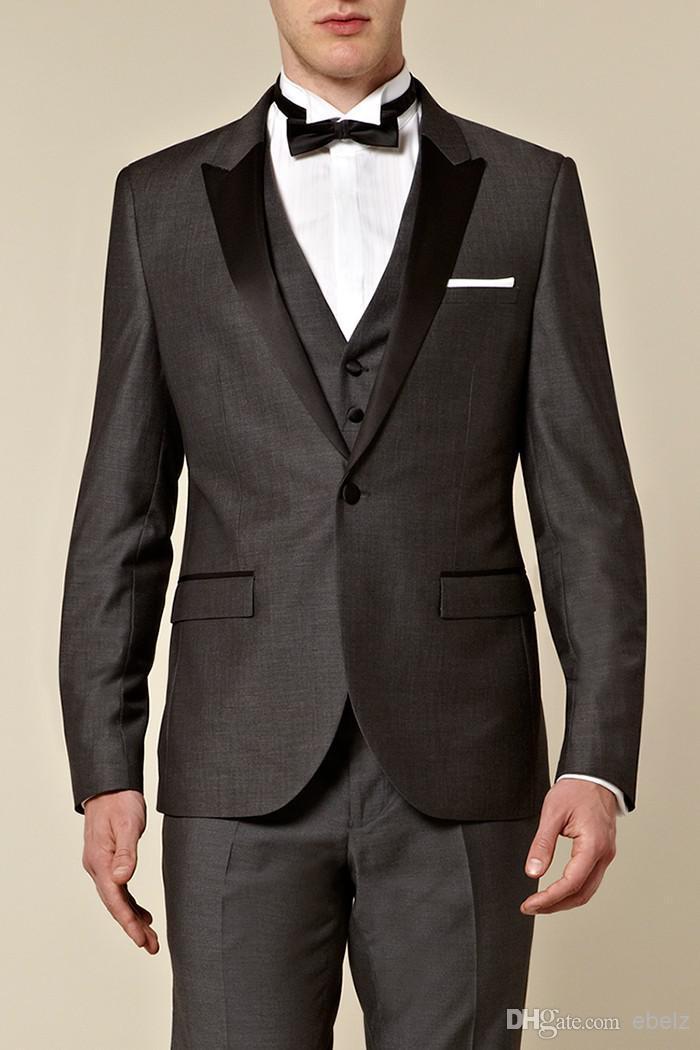 Aliexpress.com : Buy Deep grey mens suits trajes de boda para