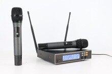 ERZHEN U4100T UHF 2 Wireless Handheld Microfone Cápsula Dinâmica Equilibrada + Saída Não Balanceada + Microfone Sem Fio KTV Festa de Família